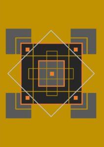 Graphisme géométrie influence porte bonheur