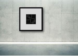 Dessin numérique abstraction géométrique
